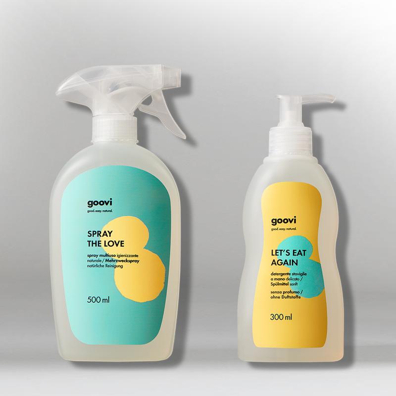 multiuse spray + hand dishwashing liquid detergent