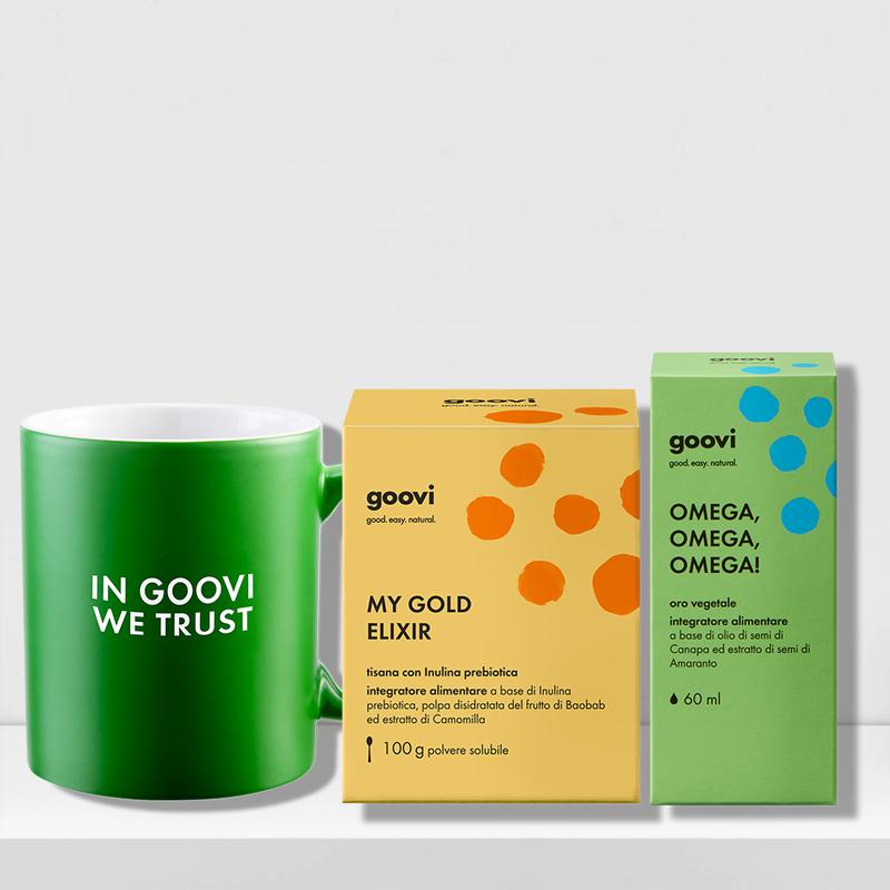 vegetable gold dietary supplement + prebiotic tea dietary supplement + mug