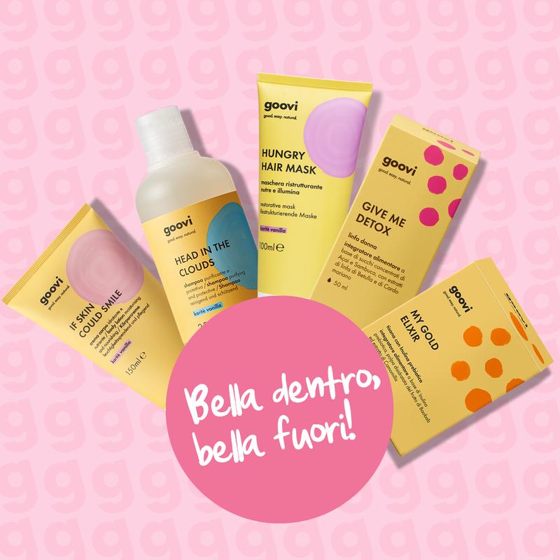 crema corpo + shampoo + maschera ristrutturante + integratore linfa donna + integratore tisana prebiotica