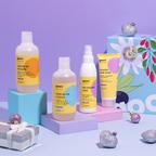 Shampoo + Restrukturierende Haarmaske + Entwirrendes Pflege-Spray für die Haare + Badezusatz