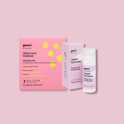face nectar dietary supplement + illuminating face cream