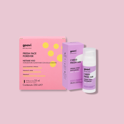 face nectar dietary supplement + antismog face cream