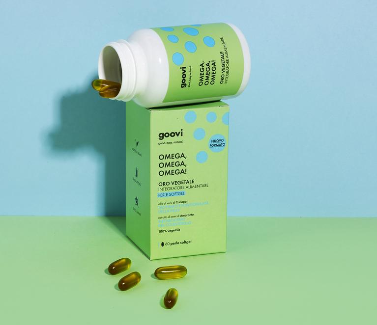 Omega, omega, omega da oggi in capsule softgel insapori e inodori