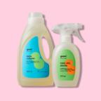 Maschinenwaschmittel + Fleckentferner für Gewebe