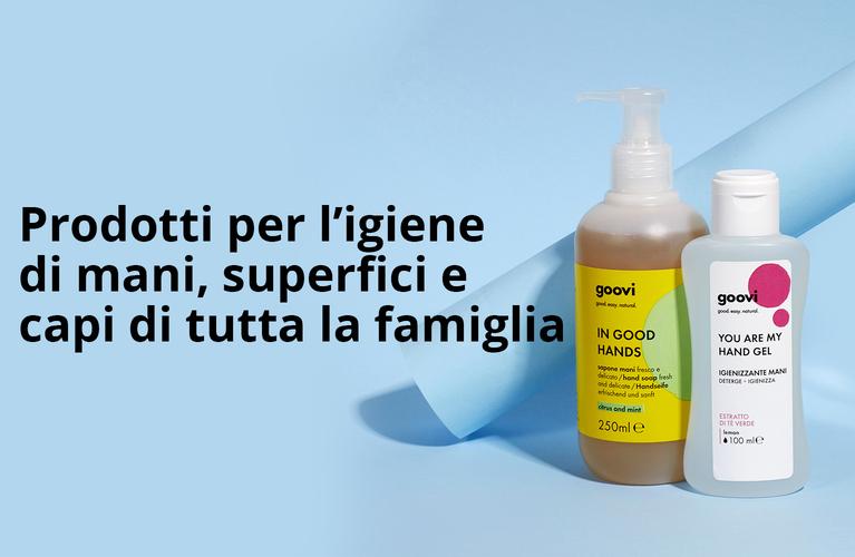 Igienizzanti naturali per la pulizia della pelle, dei capi e della casa goovi